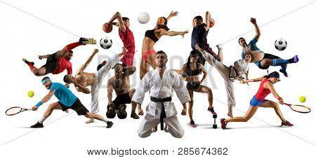Huge multi sports collage taekwondo