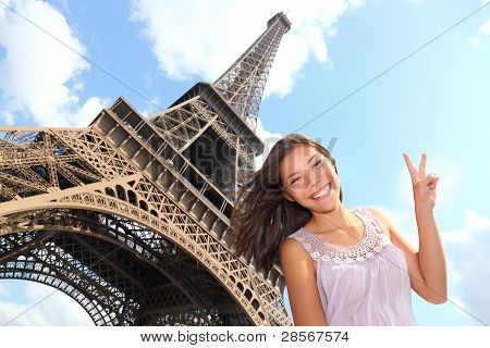 Eiffel Tower Tourist