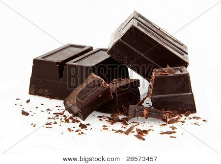 Baking Chocolate On White
