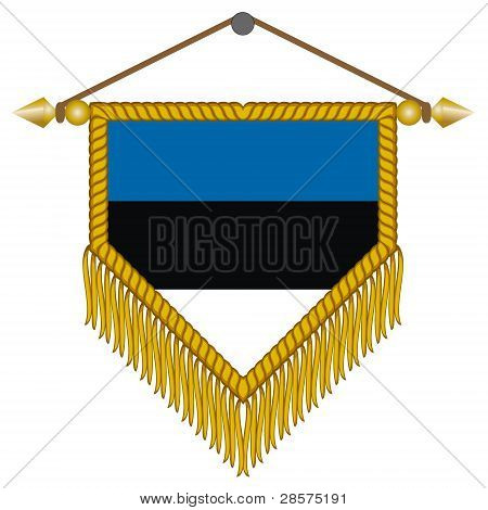 vector pennant with the flag of Estonia