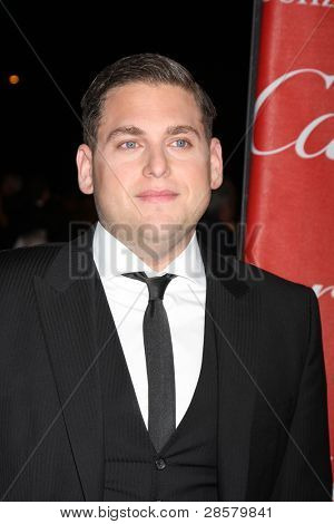 LOS ANGELES - JAN 7:  Jonah Hill arrives at the 2012 Palm Springs International Film Festival Gala at Palm Springs Convention Center on January 7, 2012 in Palm Springs, CA