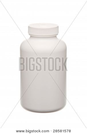 White Pills Container Isolated On White