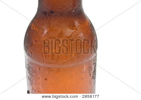 Close-Up Of Ice Cold Beer Bottle