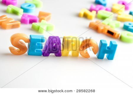 Search word made by color letters