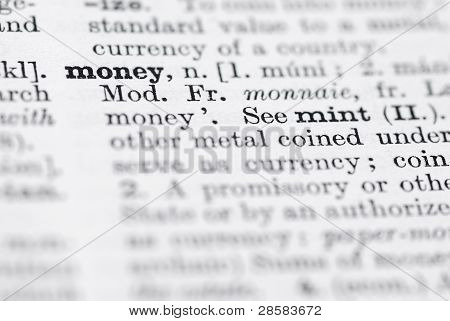 Money; Definition In English Dictionary.
