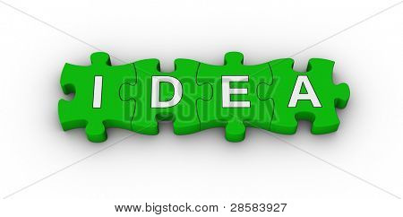 idea word on jigsaw puzzle