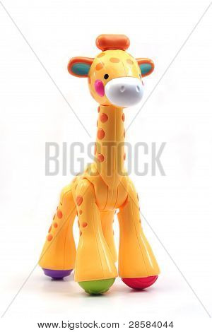 Isolated Toy Giraffe