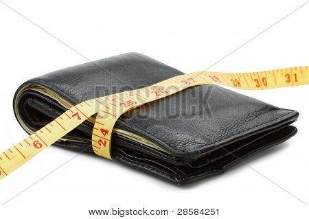 Wallet With Yellow Tape Measure