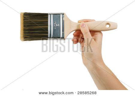 Cepillo con mango de madera