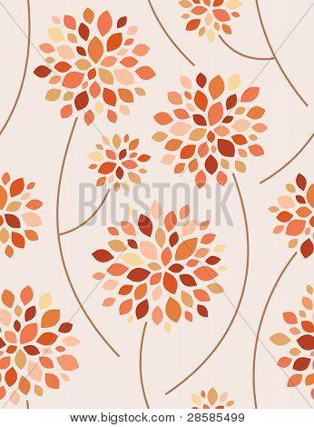 Autumn forest. Seamless Background. Vector Illustration.