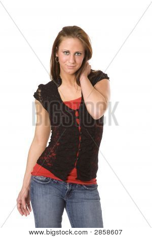 Estudante universitário de mulher atraente