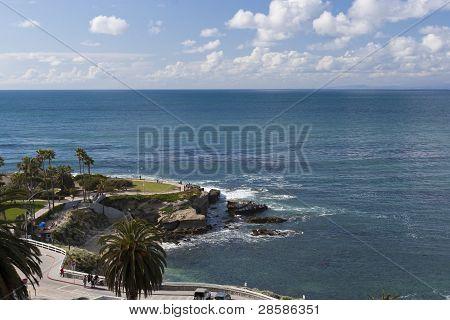 Park At The Pacific Ocean Coast - La Jolla, San Diego, California