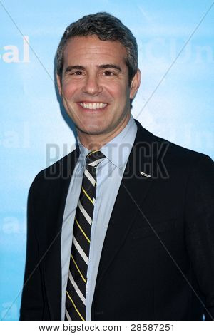 LOS ANGELES - JAN 6:  Andy Cohen arrives at the NBC Universal All-Star Winter TCA Party at The Athenauem on January 6, 2012 in Pasadena, CA