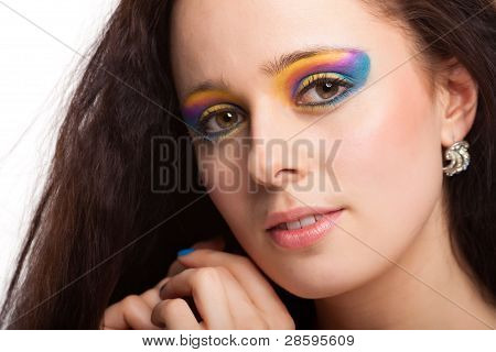 Portrait Of Beautiful Caucasian Young Woman