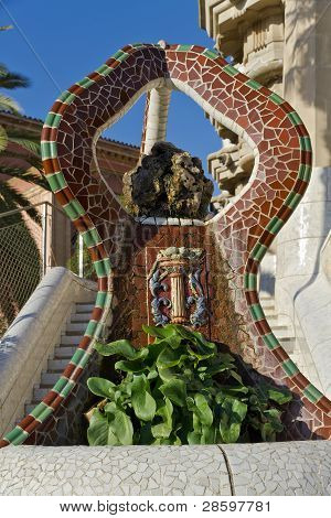 Fountain At Parc Guell
