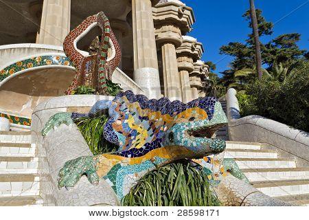 Mosaik Eidechse