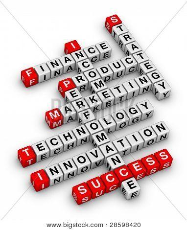 Business Planung 3d-Kreuzworträtsel