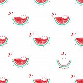 Watermelon Seamless Pattern. Colorful Summer Background Design For Holiday Greeting Card And Invitat poster