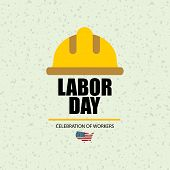 Labor Day In Usa Banner. Template Poster Or Banner On Labor Day poster