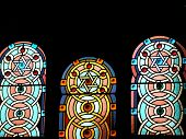 Star Of David Stained Glass Windows