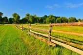 Country Fence. Background Of Country Fence In Rural Countryside poster