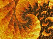 Abstract Impressionist Art Work - Yellow Orange Brown Brush Strokes Of Oil Painting On Canvas - Psyc poster