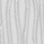 Abstract Grid Background With Wavy Dark Lines Of Waveform Dynamic Pattern Of Lines Stripes The Curre poster