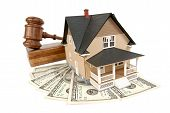 stock photo of lien  - House being sold at an auction - JPG