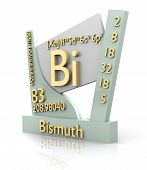 Bismuth Form Periodic Table Of Elements - V2 poster