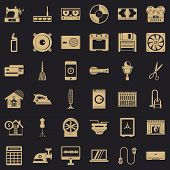 Appliance Icons Set. Simple Style Of 36 Appliance Vector Icons For Web For Any Design poster