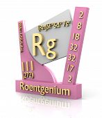 picture of rg  - Roentgenium form Periodic Table of Elements  - JPG