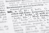 picture of pronunciation  - Shallow DOF focus on life top left cornerl - JPG