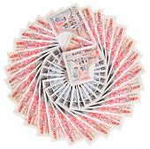 picture of british pound sterling note  - 50 pound sterling bank notes fanned out - JPG