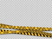 Police Line Background. Caution Yellow Tape Police Security Danger Taped Forbidden Line Safe Attenti poster