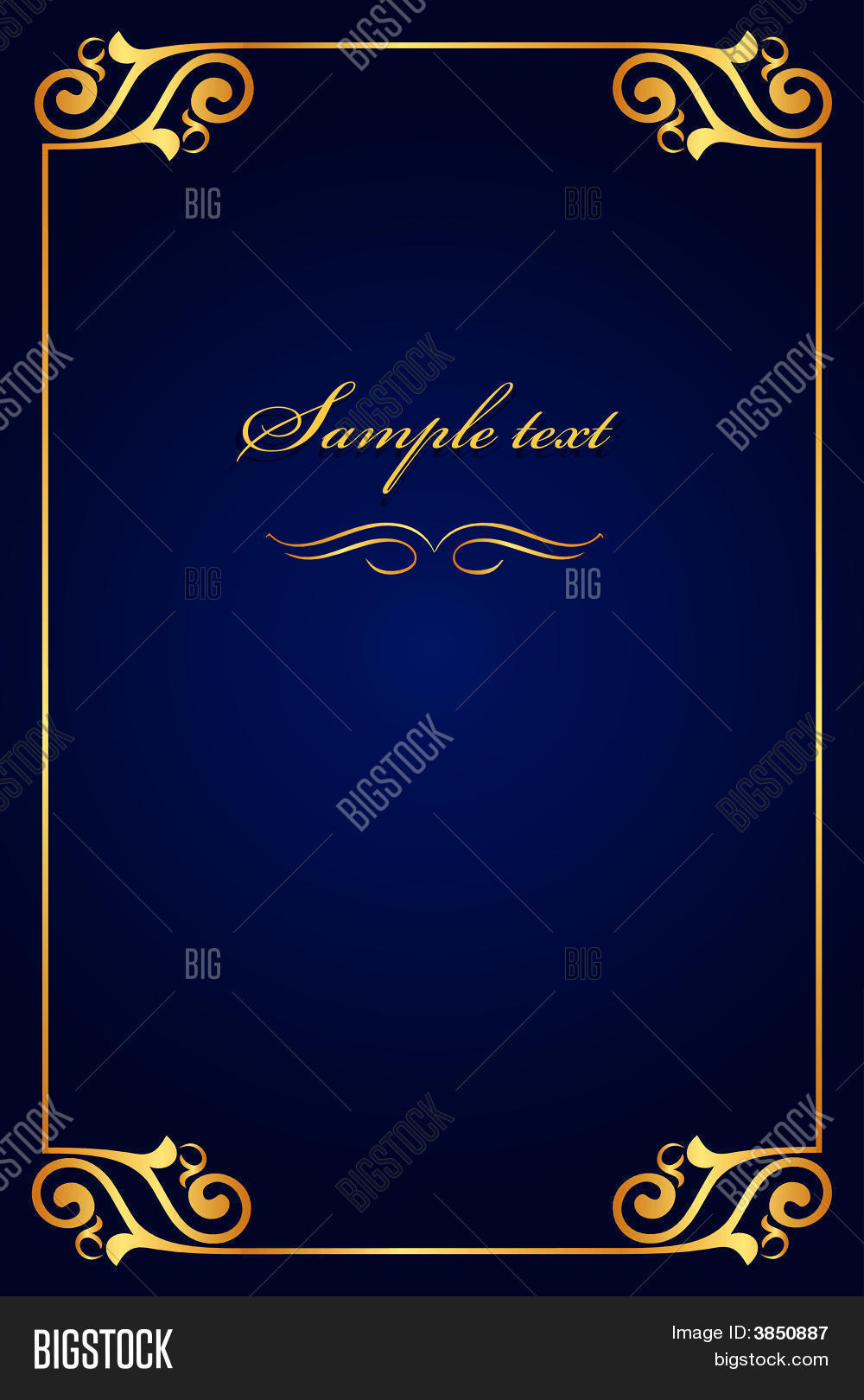 Blue Cover Cookbook : Book cover blue with gold stock vector photos