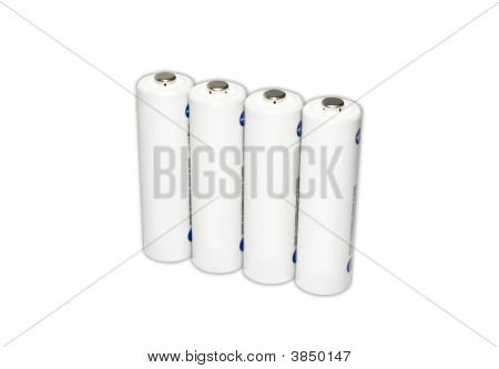 White Aa Battery Cells