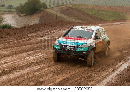 Portalegre, Portugal - November 3: Nuno Matos Drives A Opel Astra Proto In Baja 500, Integrated On F
