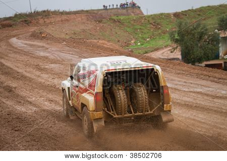 Portalegre, Portugal - November 3: Miroslav Zapletal Drives A H3 Evo In Baja 500, Integrated On Fia
