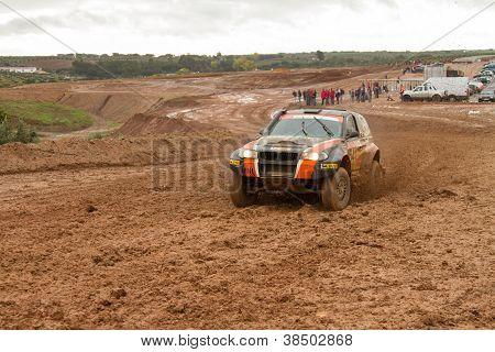 Portalegre, Portugal - November 3: Andre Amaral Drives A Proto X3 In Baja 500, Integrated On Fia Wor