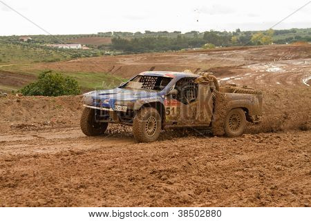 Portalegre, Portugal - November 3: Javier Herrador Drives A Herrator Tomka Evo In Baja 500, Integrat