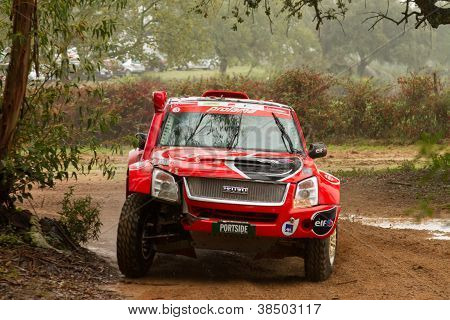Portalegre, Portugal - November 3: Rui Sousa Drives A Isuzu D-max In Baja 500, Integrated On Fia Wor