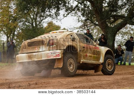 Portalegre, Portugal - November 3: Fernando Andre Drives A Renault Megane Proto In Baja 500, Integra