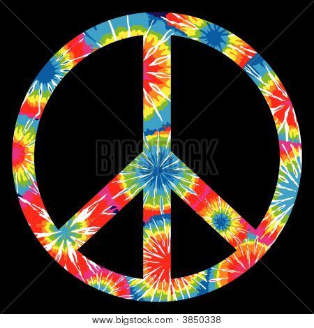 Tie Dyed Peace Symbol