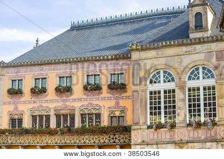 Obernai (alsace)  - Townhall (hotel De Ville)