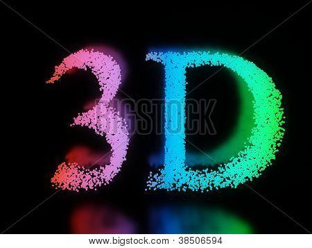 Neon 3D Word