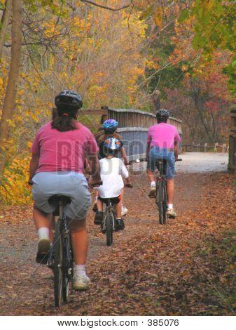 Familie Reiten Fahrräder