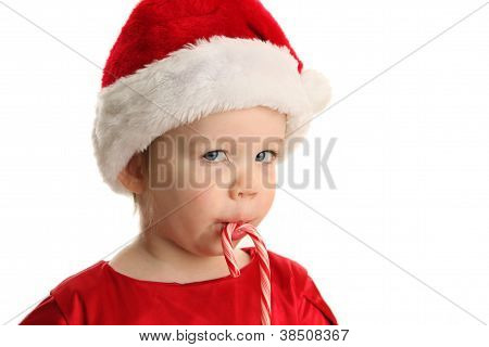 Baby Eating A Candy Cane