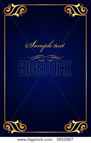 Book Cover Blue With Gold