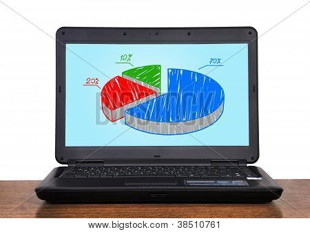 Netbook With Chart Profit
