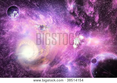 Bright Space Galaxy